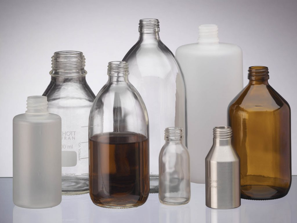 glass high temperature laboratory bottles