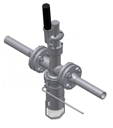 PFA lined inline sampling valve